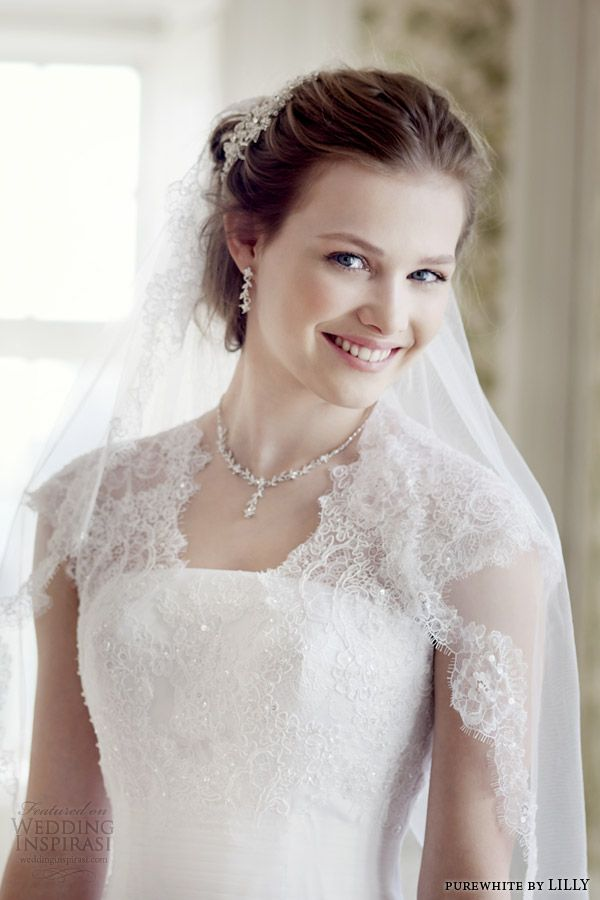 purewhite by lilly bridal 2014 wedding dress style 08 3225 wh close up