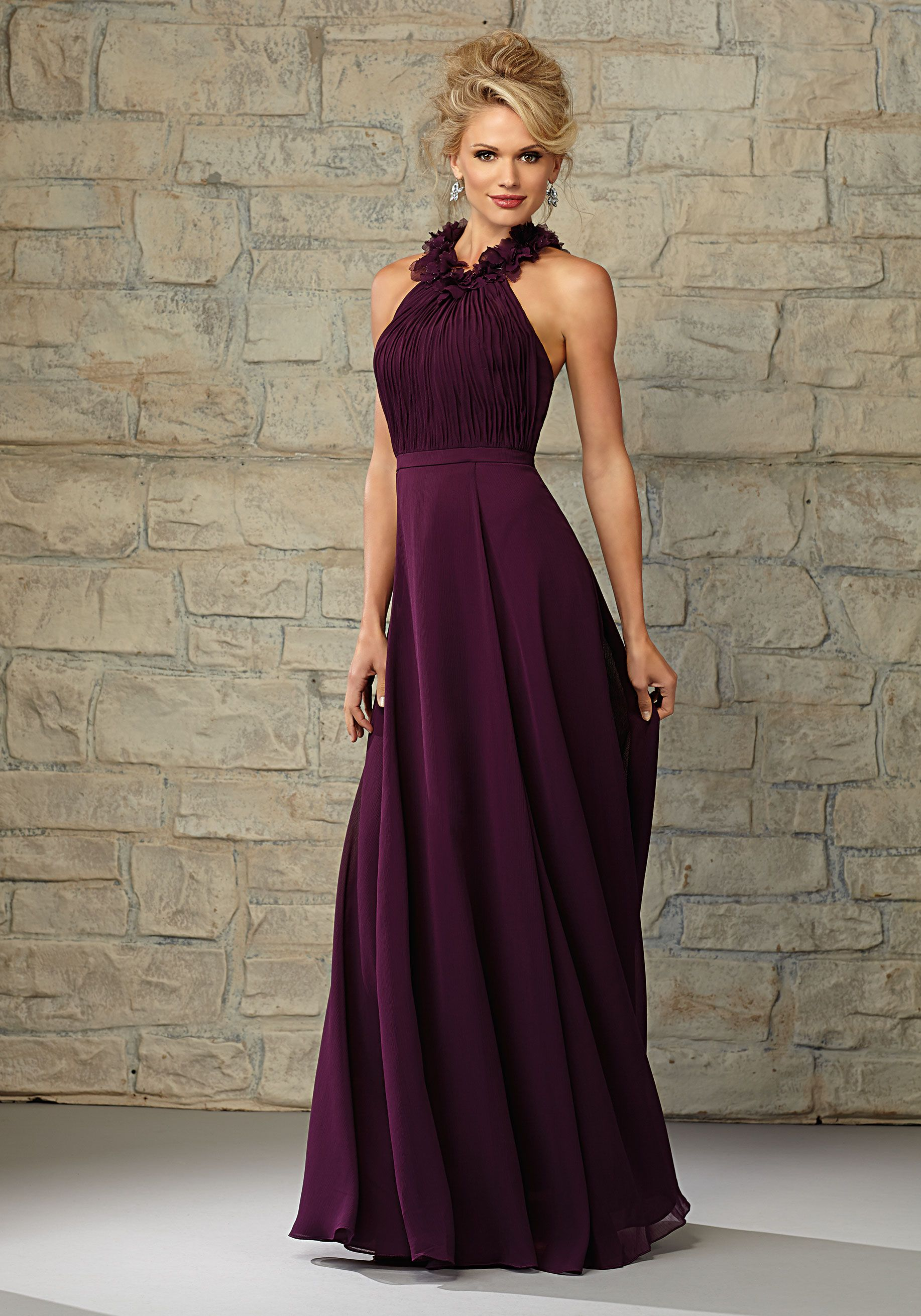 Ruffled round neck luxe chiffon bridesmaid dress designed by cheap of a line sleeveless halter chiffon eggplant empire ruched flowers floor length prom dressbridesmaid dress af 20456 2015 bridesmaid dresses ombrellifo Gallery