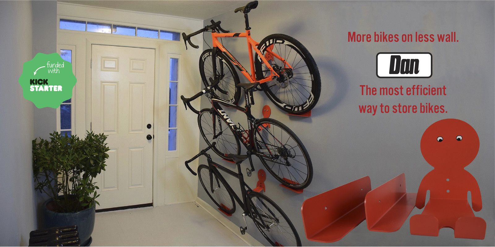 Modern Indoor Bike Rack That Looks Great With Or Without Bike Combining Sleek Design With Perfect Function Bike Storage Solutions Bike Storage Bike Wall Mount