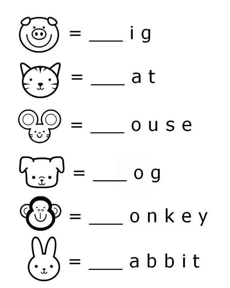 Preschool Worksheets First Letter Belajar Belajar Di Rumah Belajar Ejaan [ 1000 x 800 Pixel ]