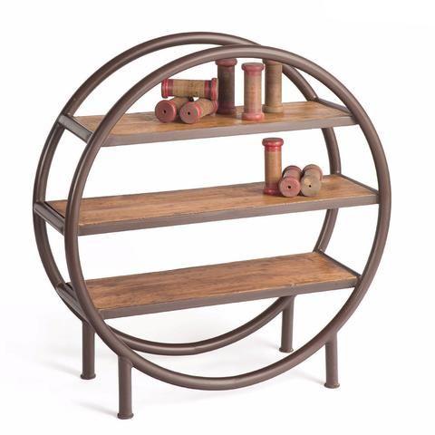 Rounder Metal And Wood Bookshelf The Rustic Furniture Store
