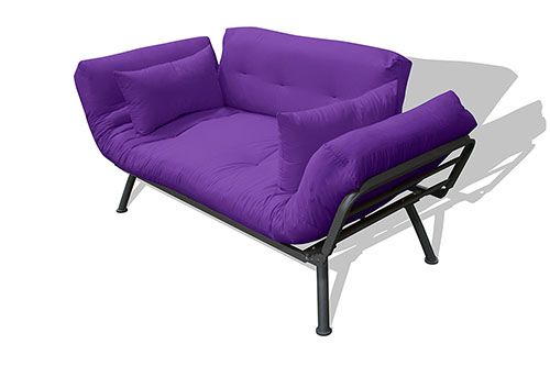 Convertible Winged Purple Sofa Futon Sets Furniture Purple Sofa