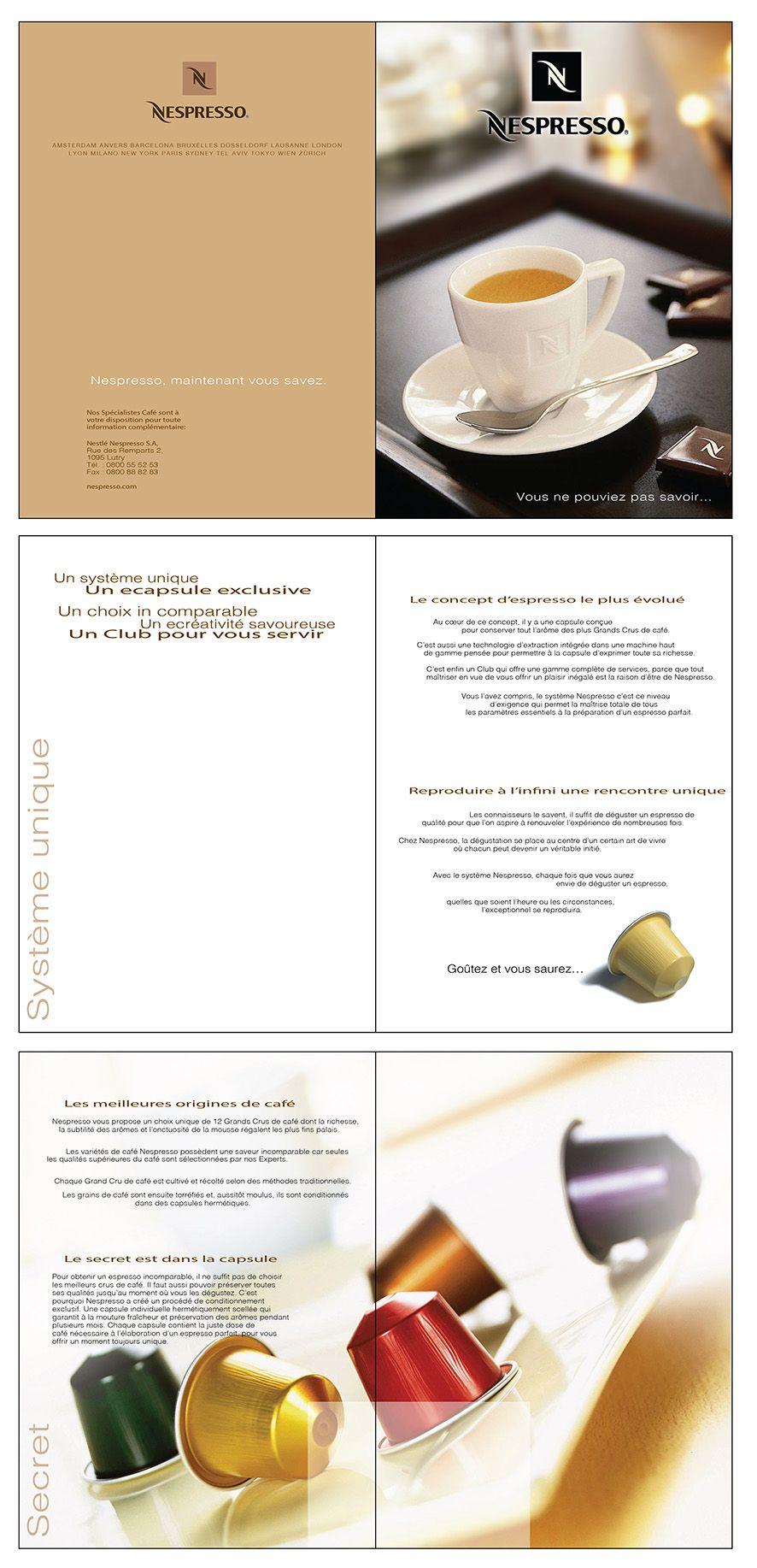 Client Nespresso Brochure Nespresso Coffee Emanuela Nazzani