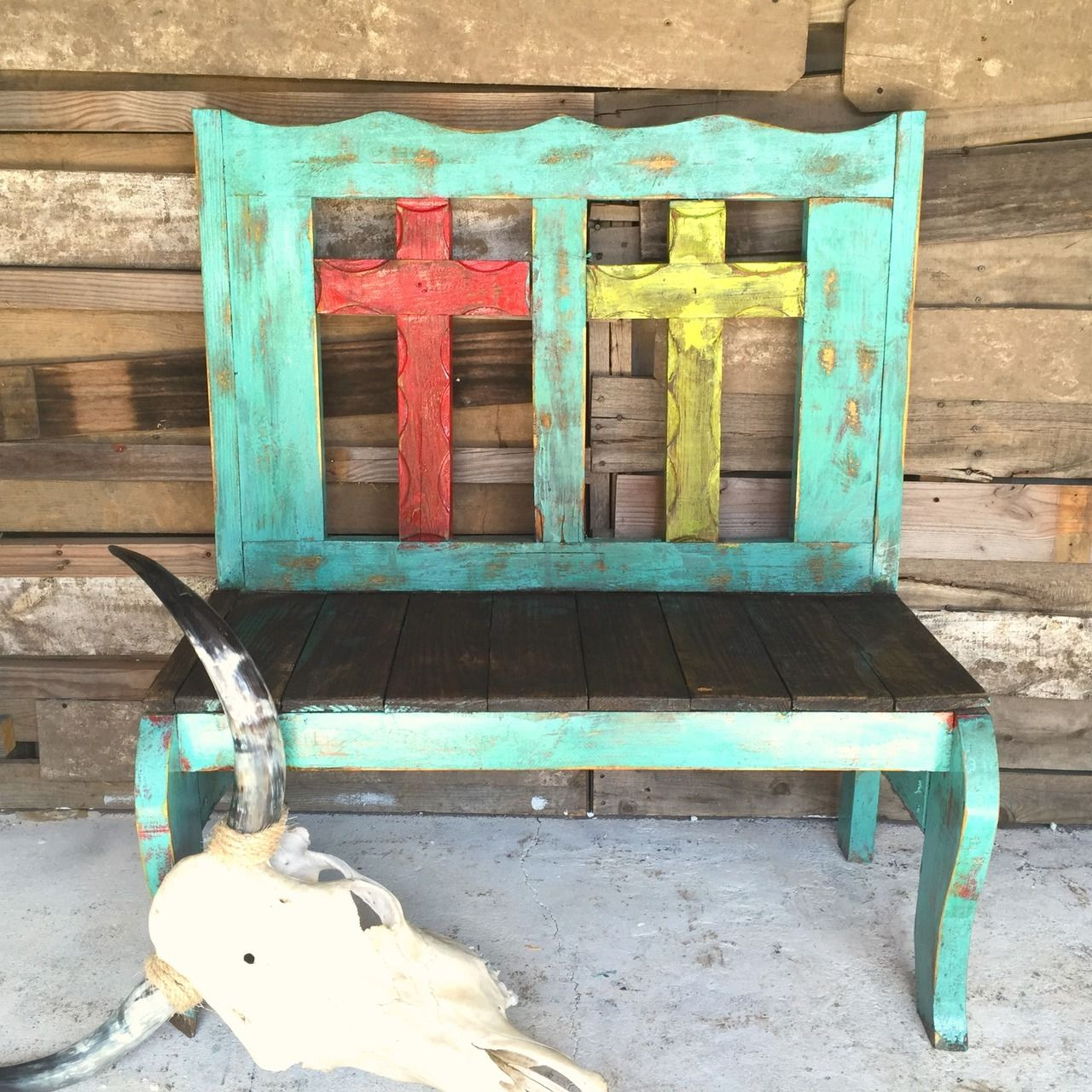 Tajo 2 Cross Bench Sofia S Rustic Furniture Pallet Diy Diy Pallet Projects Diy Outdoor Table