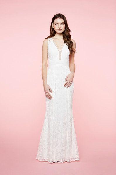 Weißes Spitzenkleid | Hochzeitskleid | LAONA online-shop ...