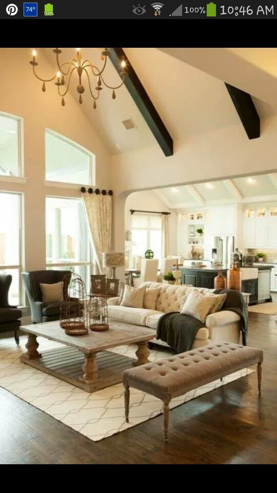 great room layout High ceilings Furniture arrangement Toscana