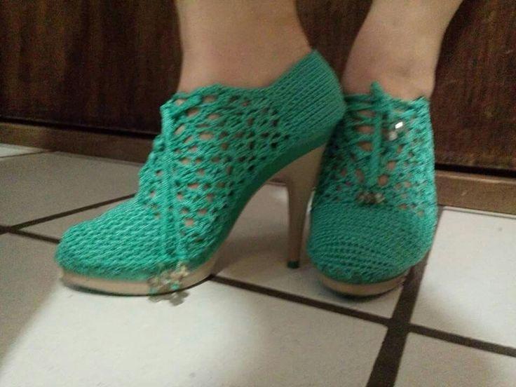Resultado de imagen para zapatillas de plataforma tejidas a crochet ...