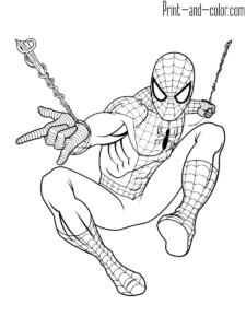 Spider Man Coloring Pages Farglaggningssidor Malarbok Teckningar