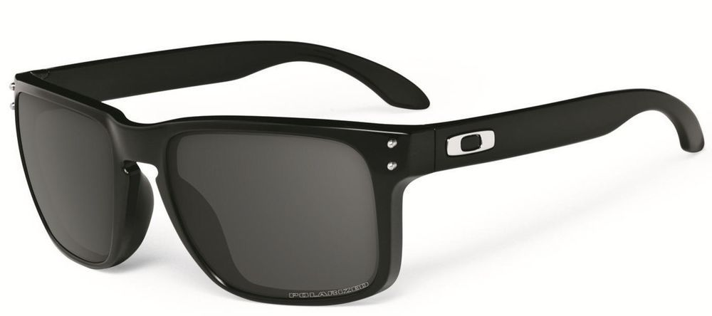 a846f109232 Authentic OAKLEY HOLBROOK OO9102-02 Polished Black Grey Polarized Sunglasses