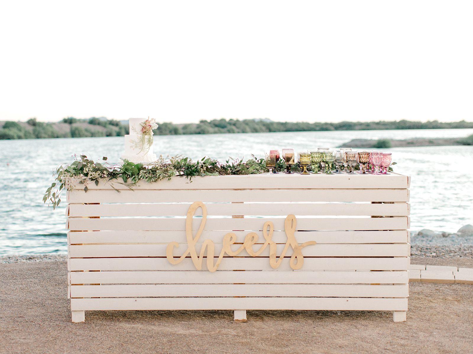 Intimate Hidden Lake Arizona Editorial Elizabeth Anne Designs The Wedding Blog Beach Wedding Signs Film Wedding Photography Arizona Wedding Photographer