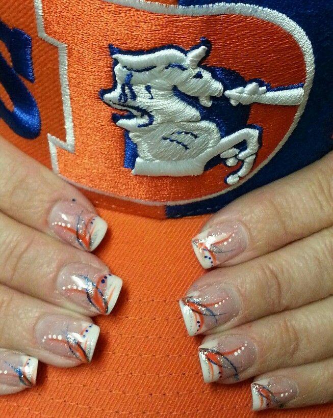 Broncos Nail Art | Denver Bronco's inspired nail art - Jonathan Nail & . - Broncos Nail Art Denver Bronco's Inspired Nail Art - Jonathan Nail