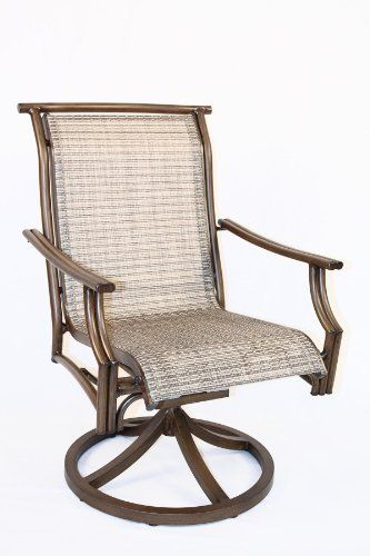 buy this cool sling patio swivel rocking dining chair by