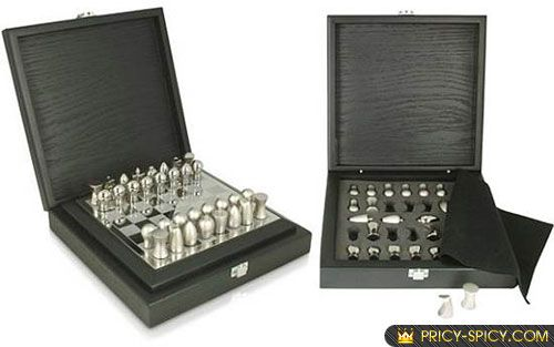 Steel Chess Set tonino lamborghini chess set,image | chess box | pinterest