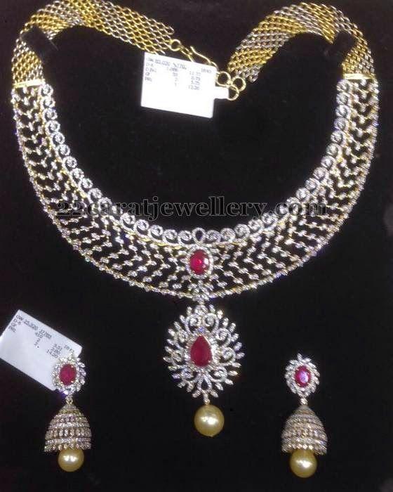 11 Lakhs Diamond Set With Jhumkas Bridal Diamond Jewellery Precious Jewelry Diamond Wedding Jewelry