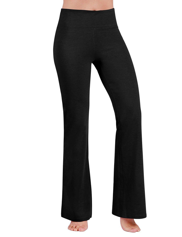 Panatlones Cortos Para Mujeres · Ejercicios De Yoga · ODODOS Power Flex  Boot Cut Yoga Pants Tummy Control Workout Running 4 way Stretch Boot Leg 43a138c28f12