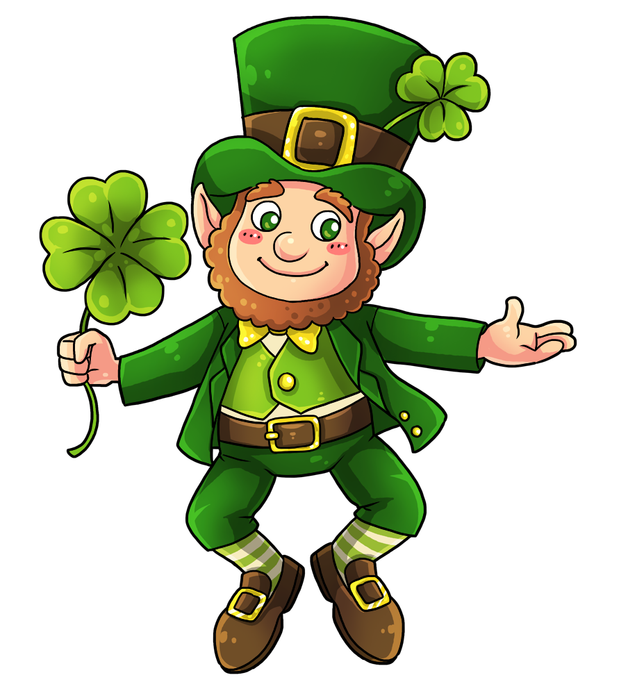 This cute and adorable leprechaun clip art is great for use on ...