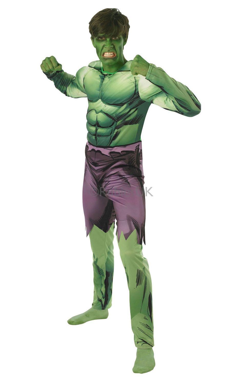 Hulk. Hulkin naamiaisasu tarjoaa kantajalleen mahdollisuuden hypätä muskelisankarin haalareihin. Tässä asussa saa vapaasti pullistella lihaksiaan!