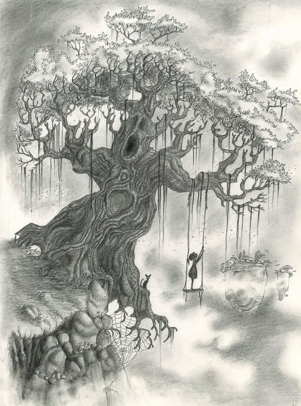 10 beautiful tree drawings for inspiration