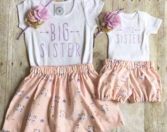 e0309ee3f Traje de hermana mayor y hermanita niñas absolutamente adorable! Listado  incluye falda