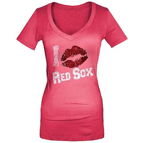 e86abd68e Boston Red Sox Women s Glitter Lips T-Shirt by 5th   Ocean - MLB.com Shop