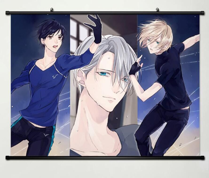 Decor Home Wall Scroll Painting Anime Japan Poster Yuri On Ice Yuri Plisetsky
