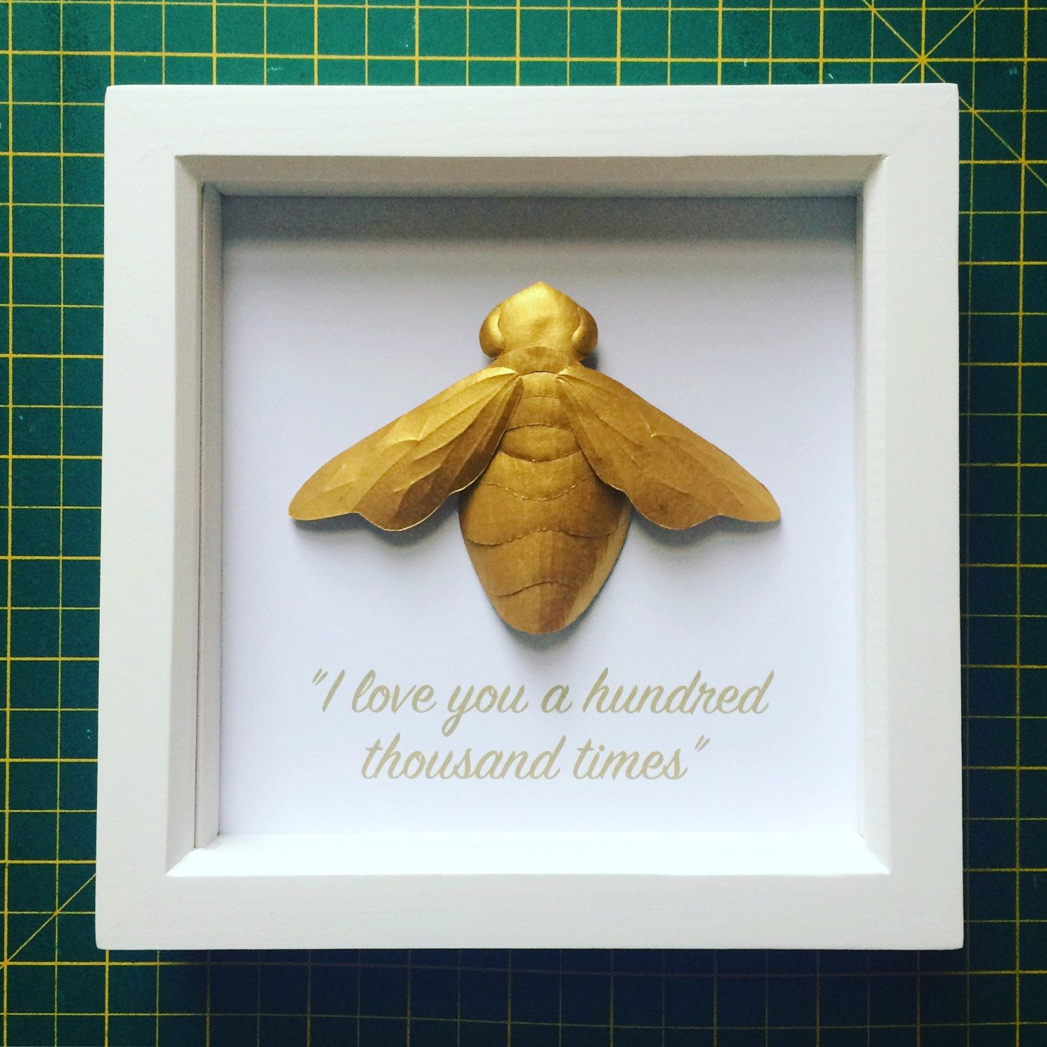paper gold bee taxidermy bee paper paperart paperartist