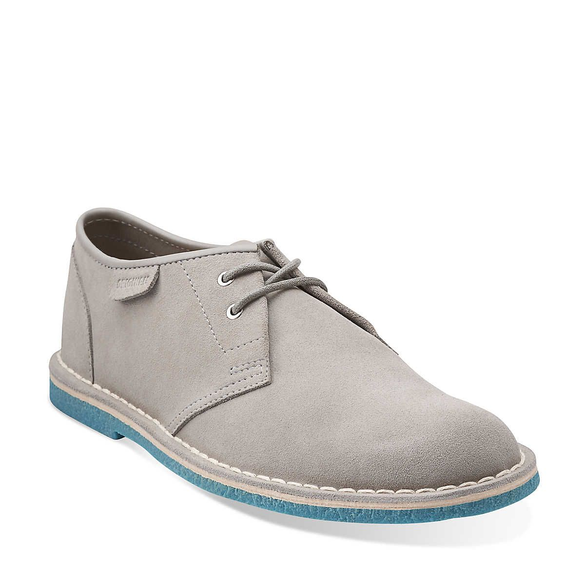 98718629 Jink in Grey Suede / Turquoise Crepe - Mens Shoes from Clarks ...