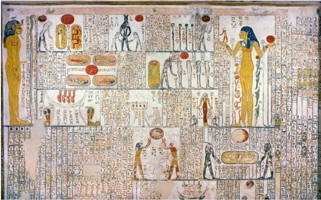 Book Of Caverns Fifth Division Scene From Tomb Of Ramses V Vi Kv9 Chamber E Right Wall The Book Of Caverns Is An Im Ancient Egypt Egyptian Kings Egypt
