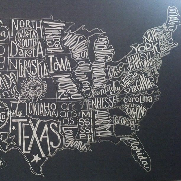 Post No NYIGF Recap Chalkboards Wall Maps And Chalkboard Walls - Us map chalkboard