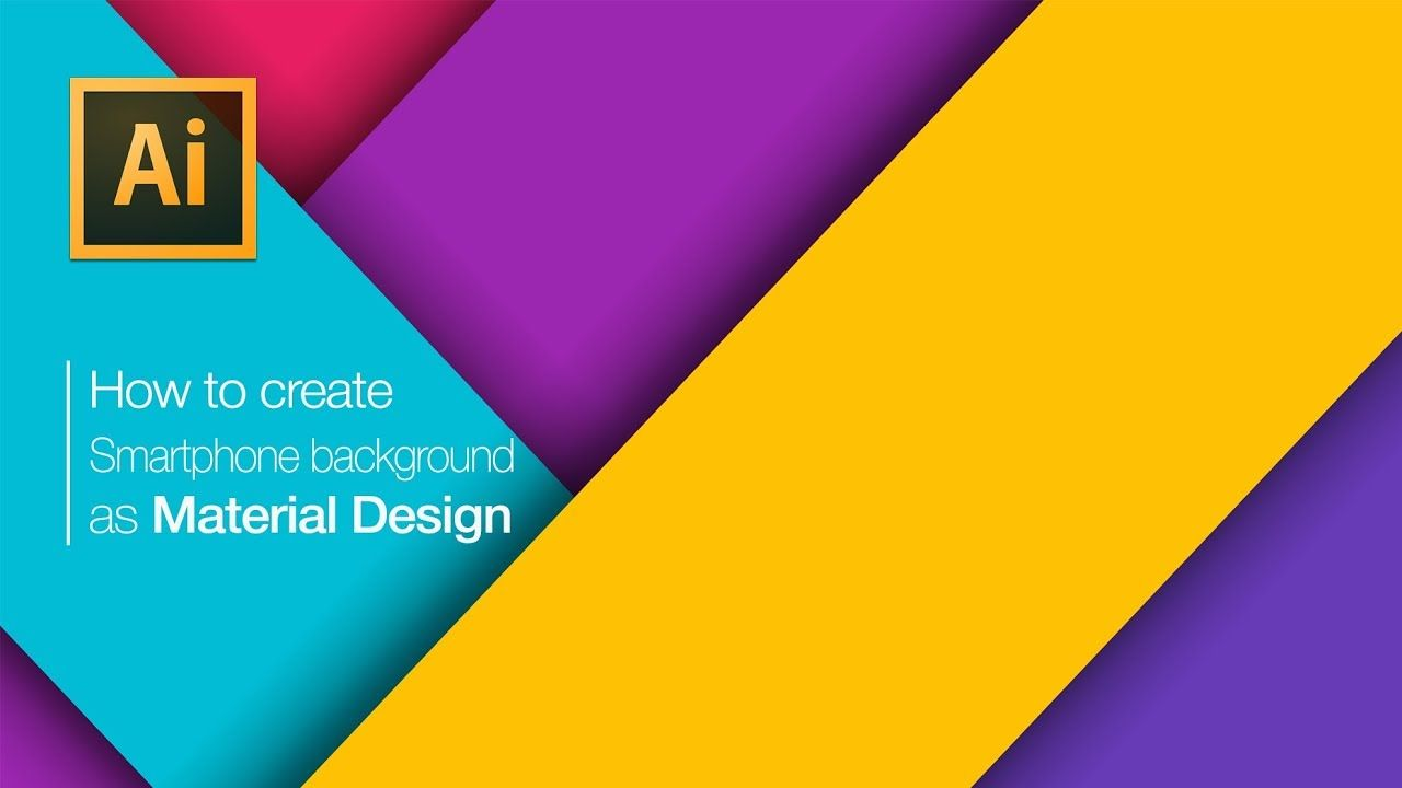 How to Create abstract wallpaper for smartphone as Material Design