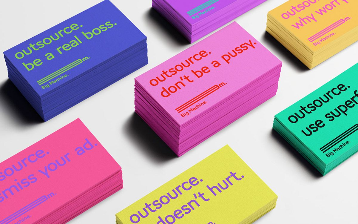 Big Machine on Branding Served Business card inspiration