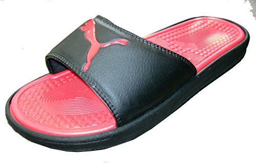 95fd5fabcf60 Puma Womens Sport Slides Sandals Flip Flop Thongs Black Red US 8      Continue to the product at the image link.