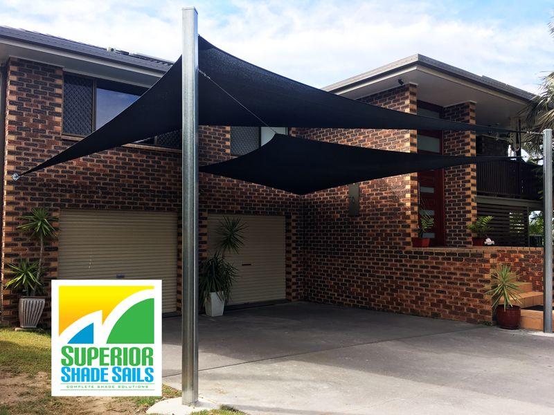 Brisbane Carport Shade Sails Algester Double Overlapping Sun Sails Shade Sail Shade Sail Installation Carport Shade