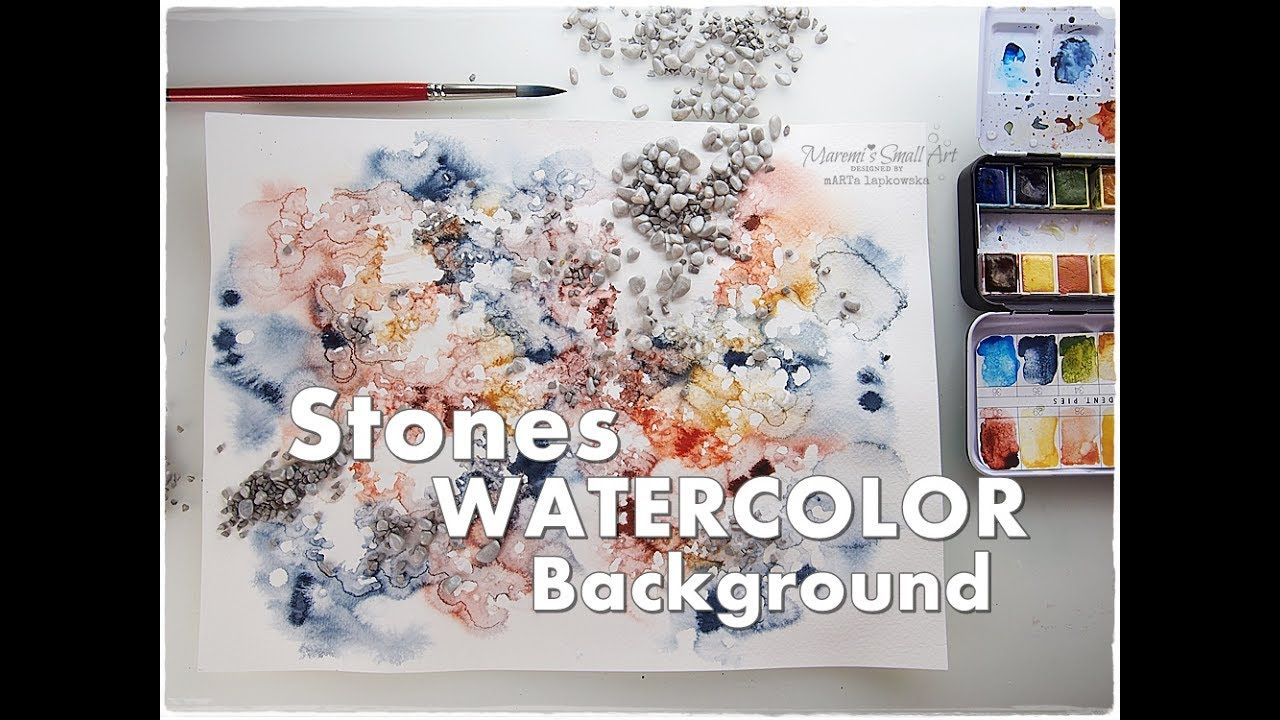 Stones Background Watercolor Texture Technique For Beginners