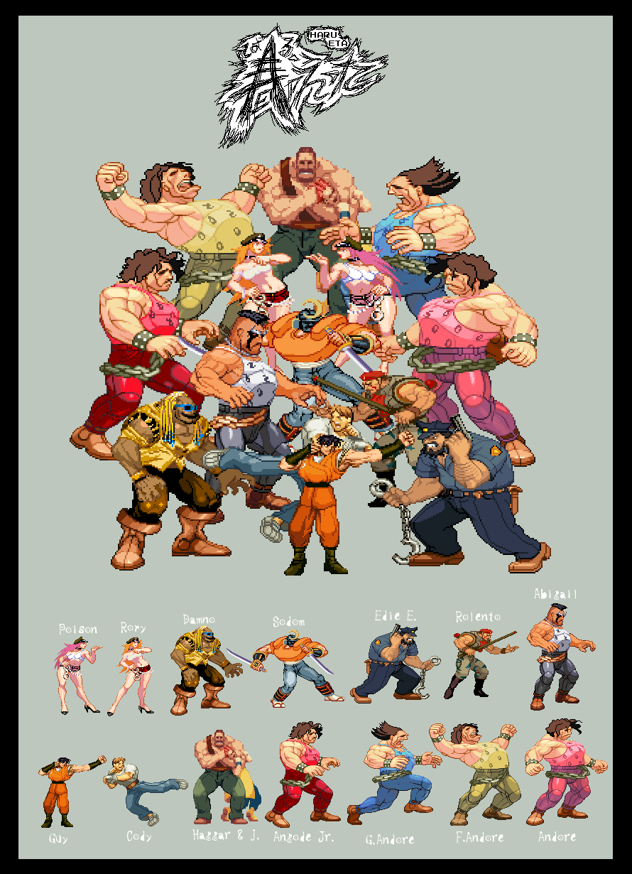 Final fight Sprites by on