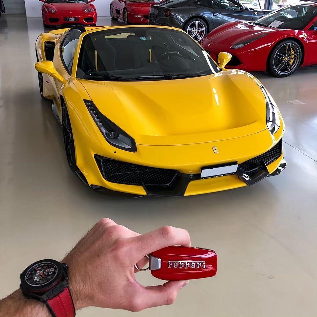 Yellow 488 Pista Spider Cars247 Swizzcars Ferrari Pista