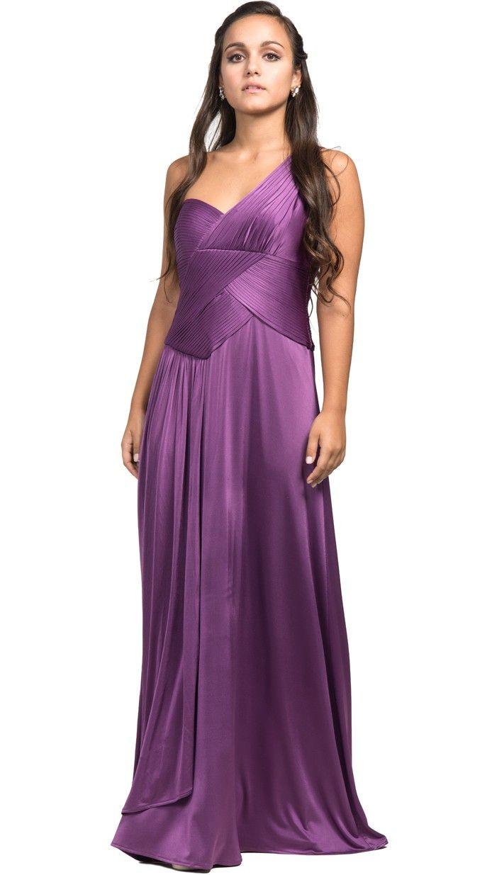 vestido asimétrico morado brillo para gala en alquiler | Vestidos ...