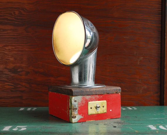 Upcycled Lamp, Boat Vent Table Lamp, Industrial Lighting ...