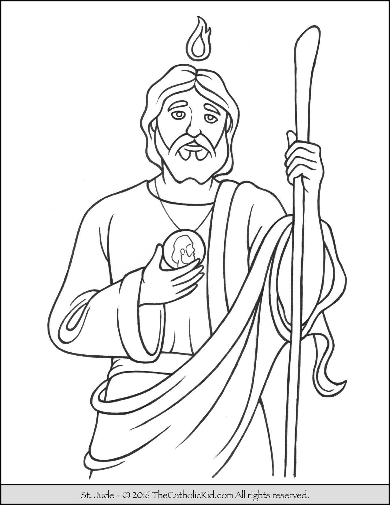 Saint Jude Coloring Page The Catholic Kid Catholic Saints