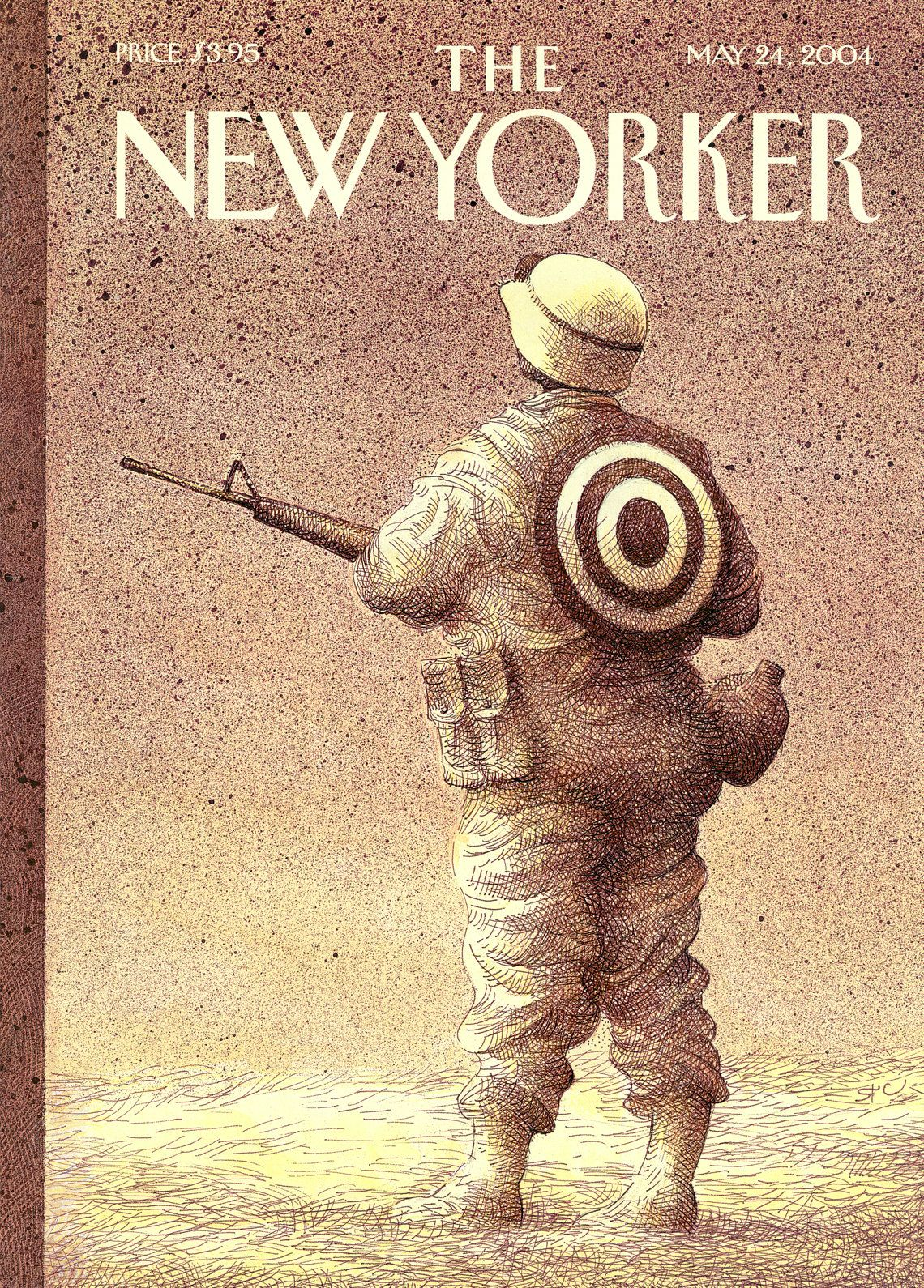 """The New Yorker - Monday, May 24, 2004 - Issue # 4076 - Vol. 80 - N° 13 - Cover """"Army of One"""" by Raul Colón"""