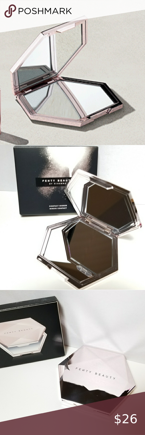 Fenty Beauty Compact Mirror Brand new Never used or tested Luxurious feel Not available in stores Limited edition Fenty Beauty Makeup