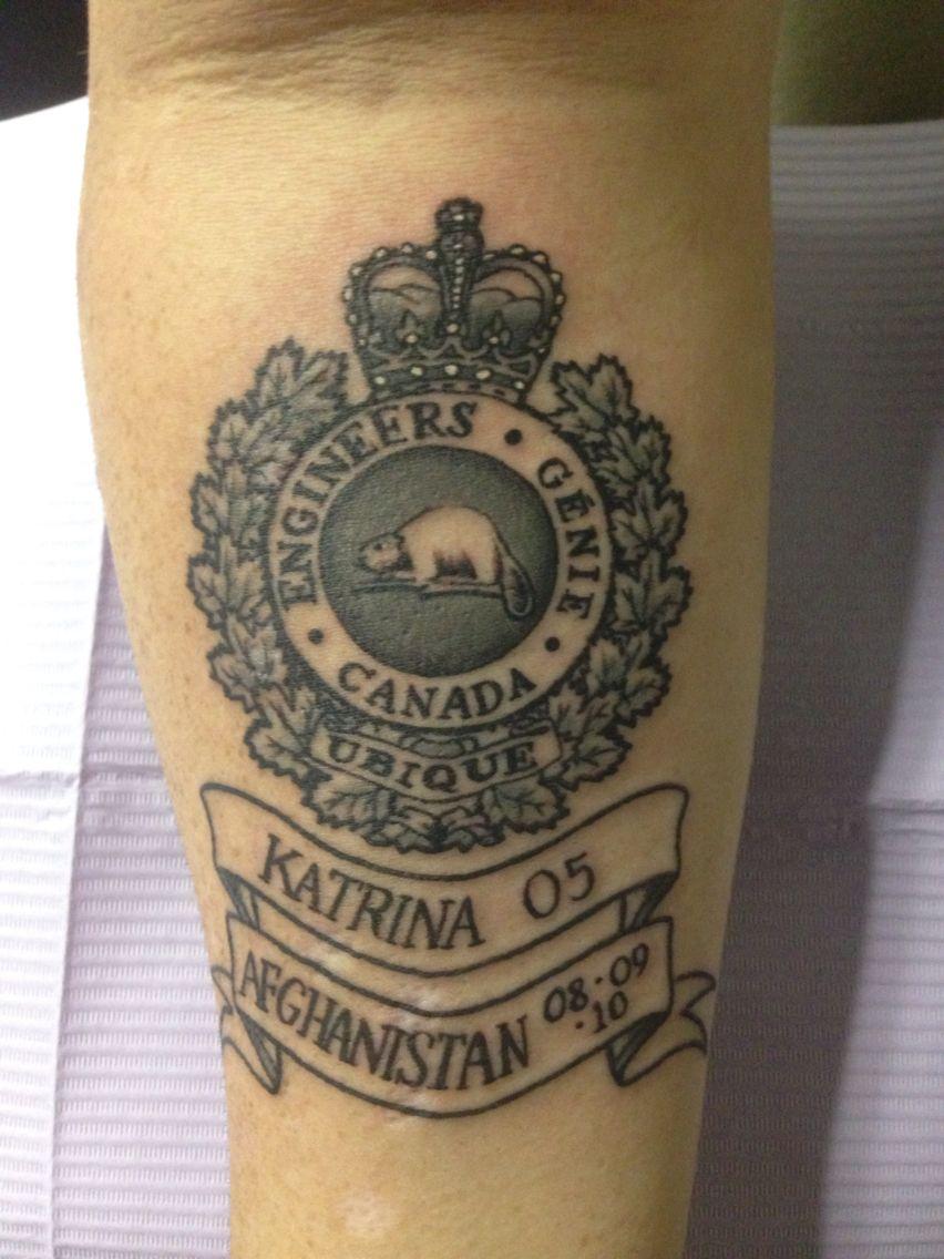 My canadian military engineer tattoo tattoo pinterest for Combat engineer tattoo