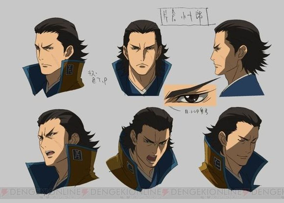kojuuro sama from the newest sengoku basara anime slightly different from the first two series maybe a bit less basara concept art characters sengoku basara