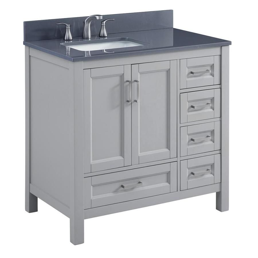 Scott Living Durham Cool Gray Undermount Single Sink Bathroom Vanity With Engineered Stone Top Common 36 In X 22 Actual