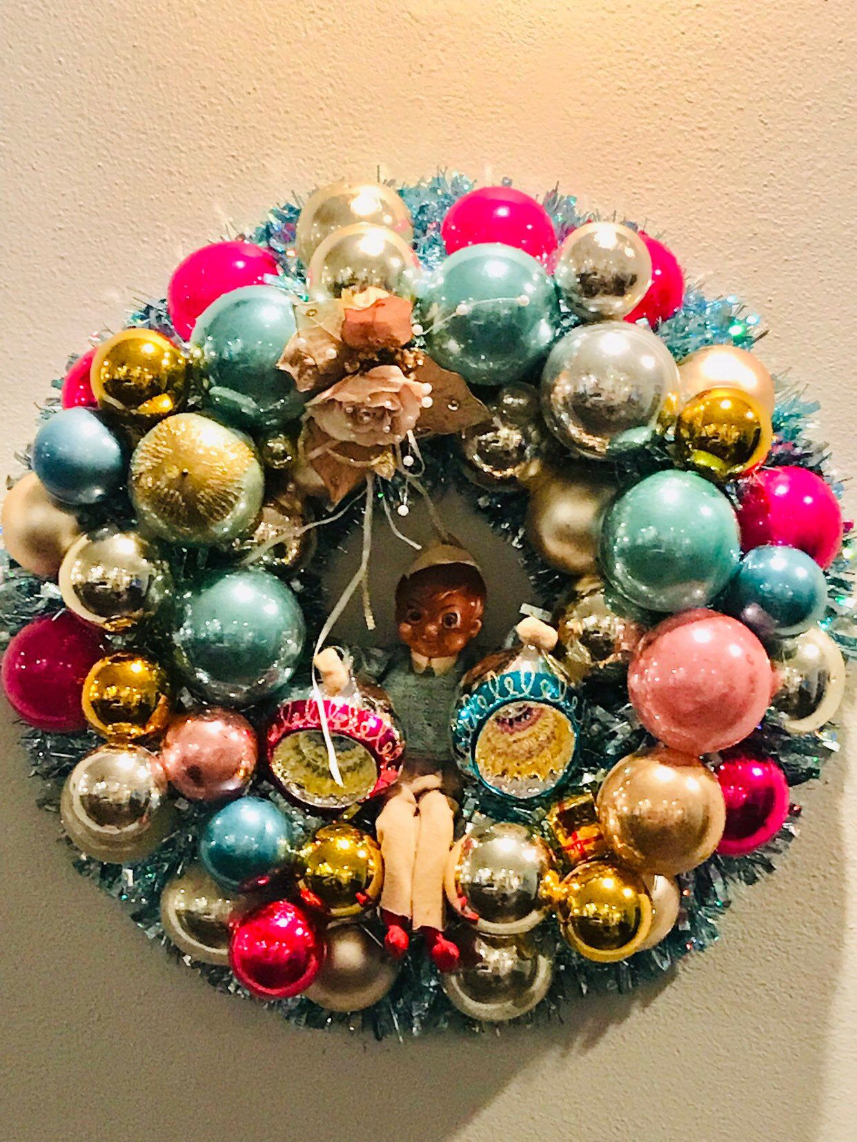 Beautiful 20 Tinsel And Large Vintage Christmas Etsy In 2020 Christmas Ornaments Sale Vintage Christmas Ornaments Ornament Wreath