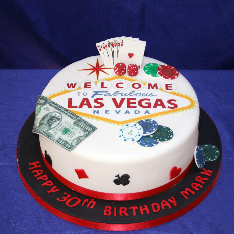 Las Vegas Birthday Cake
