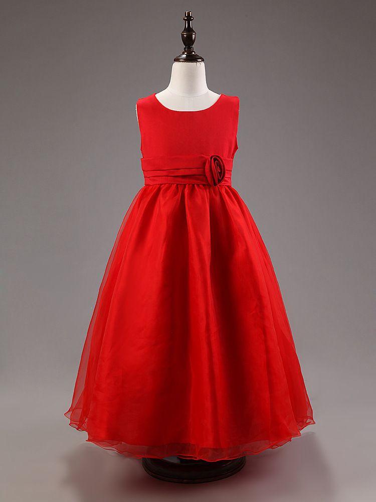 d9ef3762d2b54 Filles mode fleurs de soirée de mariage princesse robe de bal robe 3 ~ 10 ans  enfants de haute qualité tendance cheville longueur robe robes dans Robes  de ...