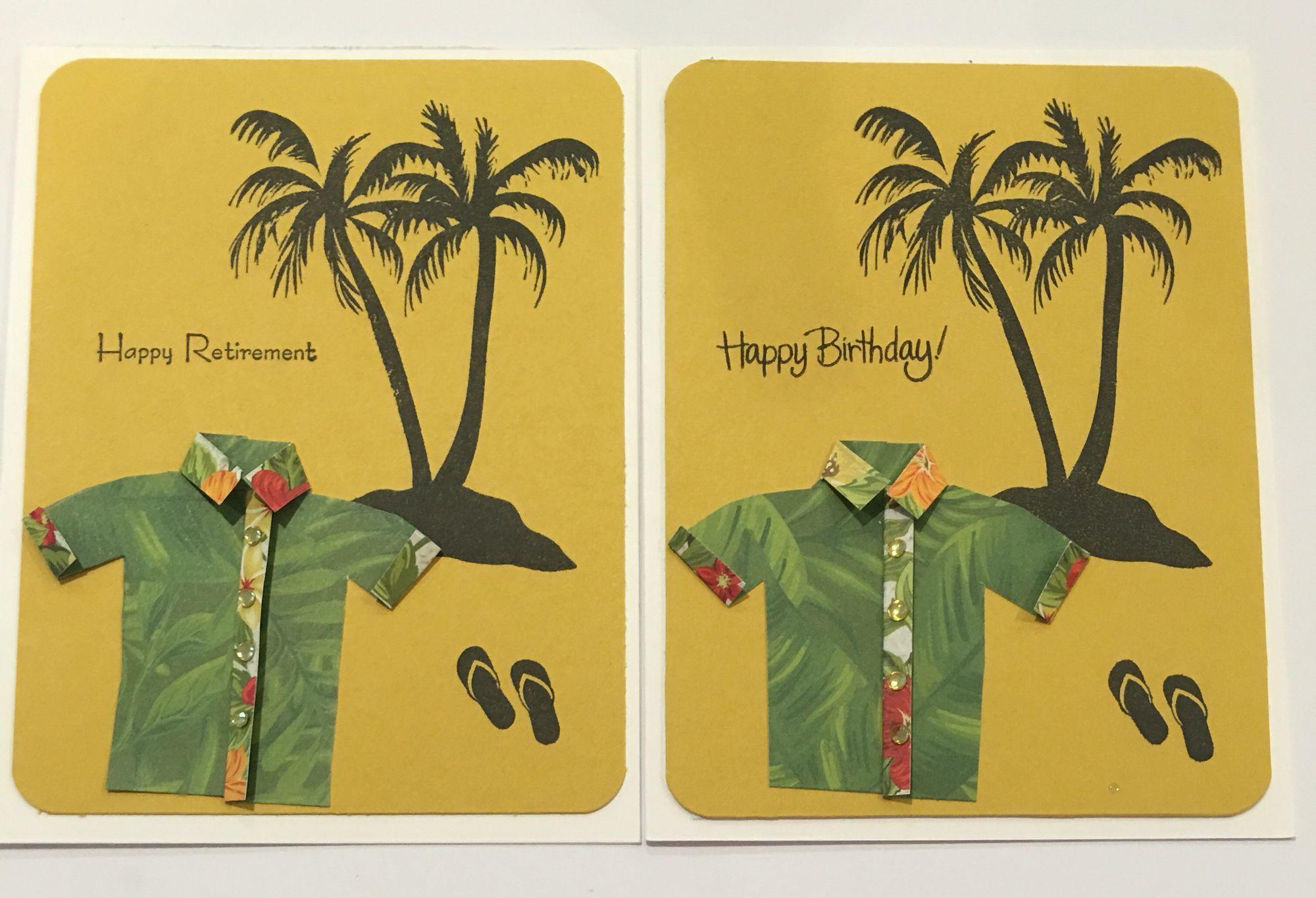 Cby happy birthday and happy retirement greeting cards with palm cby happy birthday and happy retirement greeting cards with palm tree flip flops and m4hsunfo