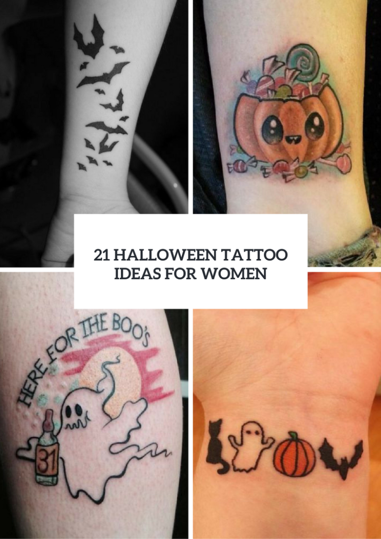 21 EyeCatching Halloween Tattoo Ideas For Ladies Cute