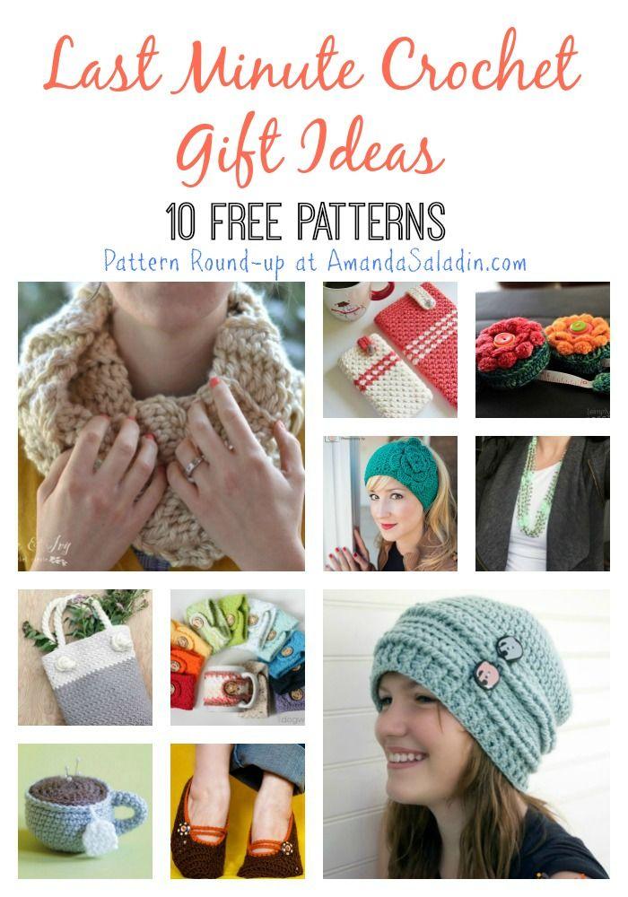 10 Free Last Minute Crochet Gift Ideas   Pinterest   Moda crochet ...